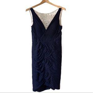 LE CHATEAU Embellished Lace Illusion Dress FORMAL